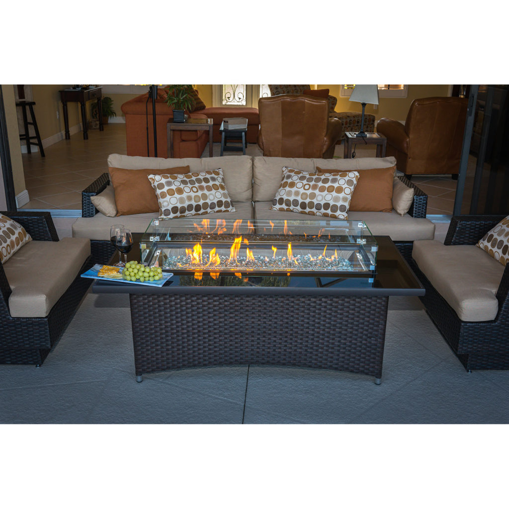 Outdoor Great Room Montego Crystal Fire Pit