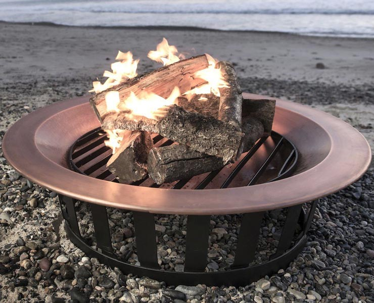 "Titan Attachements Frontgate 40"" Copper Fire Pit Bowl"