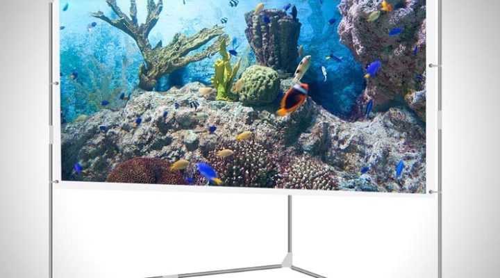 JaeilPLM 100-Inch Wrinkle-Free Portable Outdoor Projection Screen Review