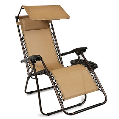 Best Zero Gravity Chair, Belleze 2-Pack Zero Gravity Chairs Patio Lounge +Cup Holder/Utility Tray