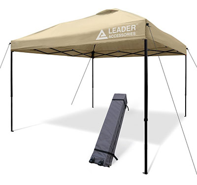 Portable Pop Up Canopy - Leader Accessories 10'x10' Instant Pop Up Canopy