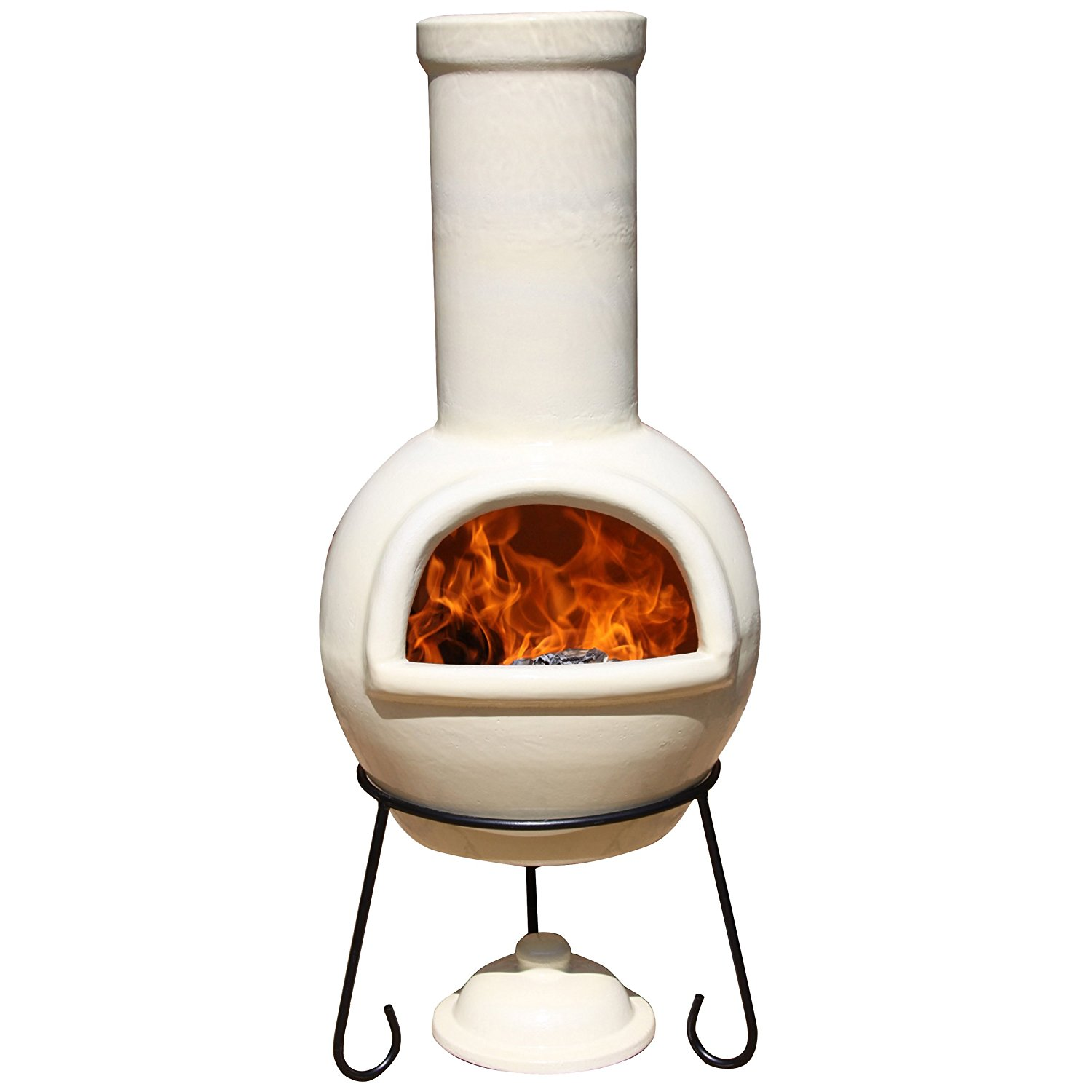 Gardeco AFC-C21.70 Ivory Chiminea - best Clay Chiminea