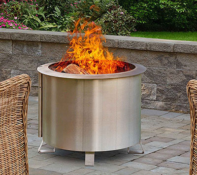 Double Flame Patio Fire Pit