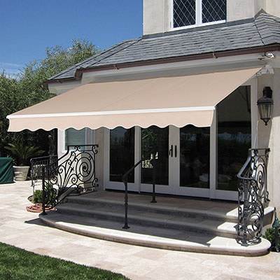 Best Choice Products Manual Patio 8.2'x6.5' Retractable Deck Awning Sunshade Shelter