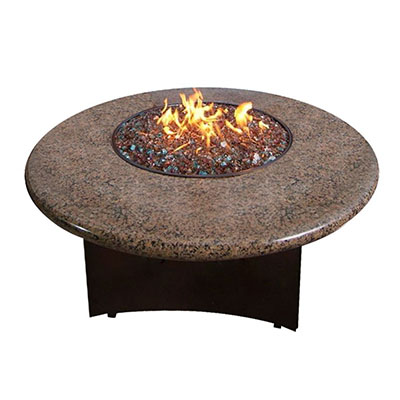 Elegance Oriflamme Outdoor Fire Pits Tropical Brown - Budget High End Granite Fire Table