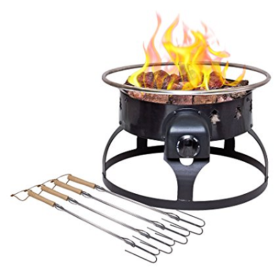The Camp Chef Redwood Port Pro Fire Pit Portable Propane Fire Pit