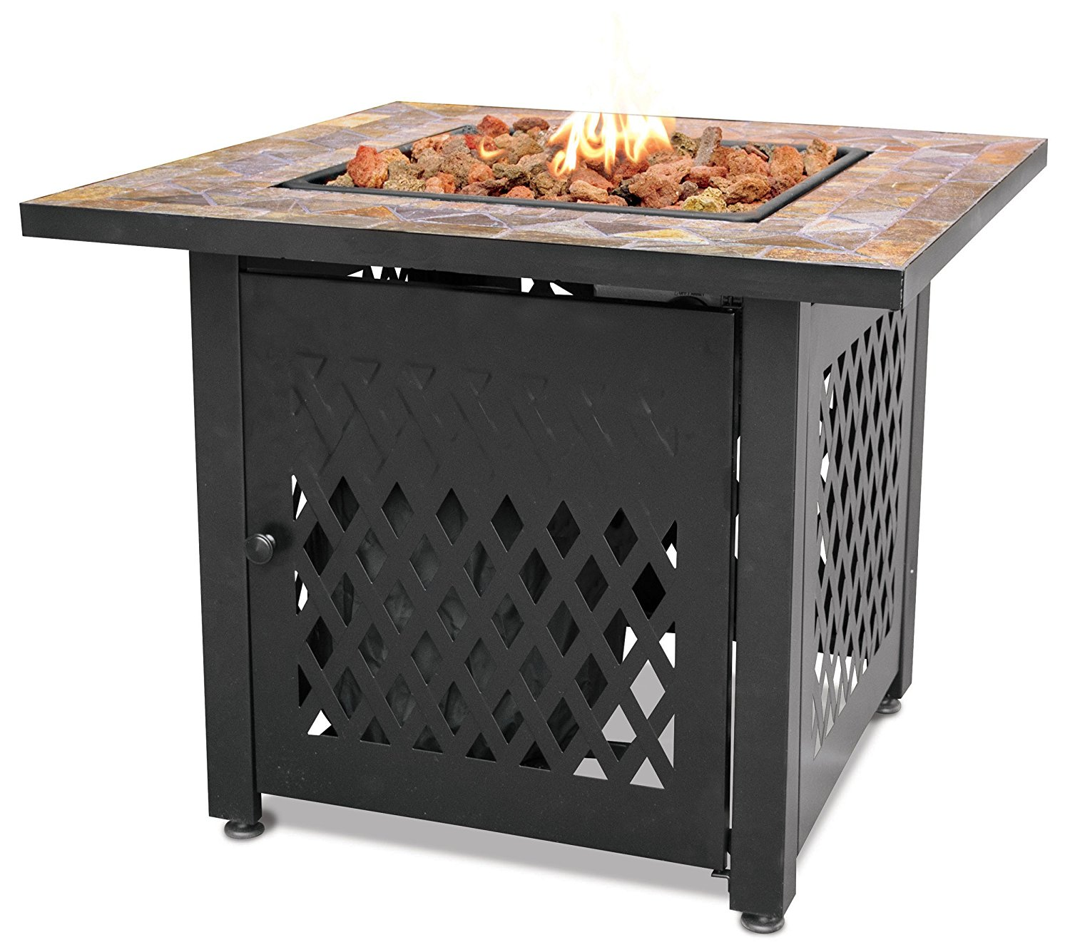 Endless Summer GAD1429SP - Gas Outdoor Fireplace with Slate Mantel