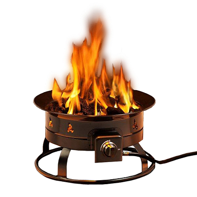 Heininger 5995 58,000 BTU Portable Propane Outdoor Fire Pit Portable Propane Fire Pit
