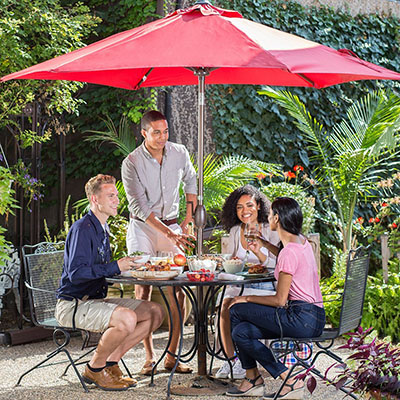 Abba Patio 9 Ft Market Outdoor Aluminum Table Patio Umbrella