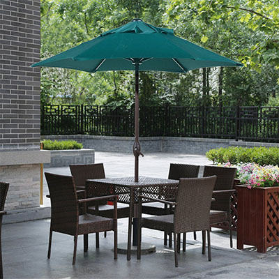Abba Patio 7-1/2 ft. Round Outdoor Market Patio Umbrella