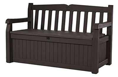 Keter Eden Outdoor Patio Storage Bench, backyard storage bench
