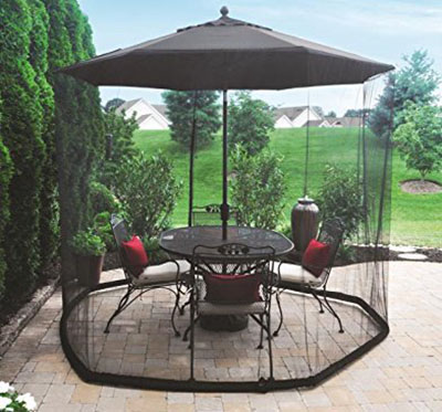 The OceanTailer 9u0027 Umbrella Table Mesh Screen Is Perfect For Keeping Bugs  Off Your Patio