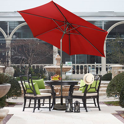 Farland 9 Ft Outdoor Table Aluminum Patio Umbrella