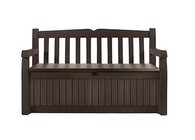 Keter Eden Outdoor Patio Storage Bench, water resistant storage bench