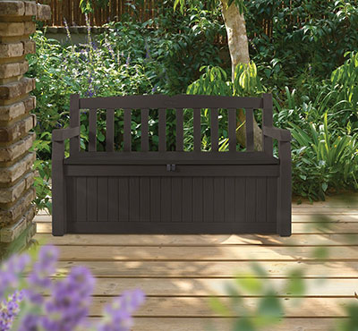 Keter Eden Outdoor Patio Storage Bench, budget patio storage