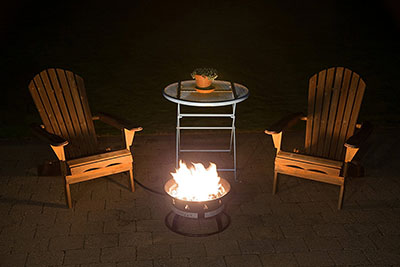 Heininger 5995 Portable Propane Outdoor Fire Pit, a great propane fire pit for camping, RV's or in your own backyard