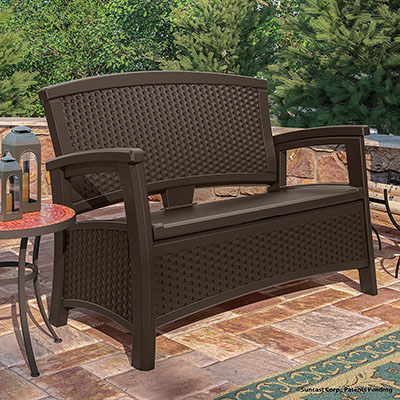 Exceptionnel ... Pressed To Find A Better Outdoor Storage Bench. When You Buy The Suncast  Elements Loveseat We Can Guarantee Youu0027ll Be Happy With Your Purchase And  Itu0027ll ...