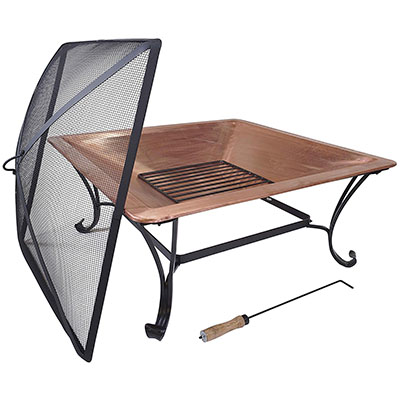 "Titan Outdoors 33"" Square Copper Fire Pit"