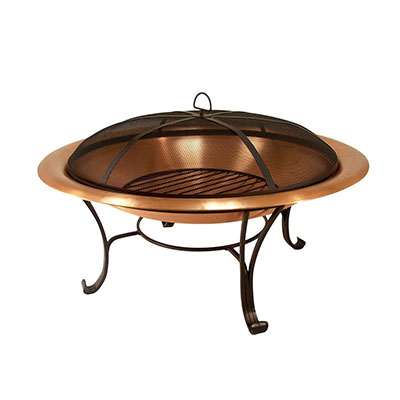 Catalina Creations 100% Solid Copper Fire Pit
