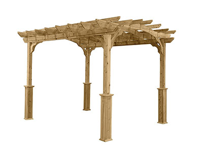 The Suncast PA1012 Wood Pergola is an amazing cedar pergola built to last and with improved stability