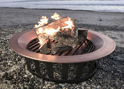 "Titan Attachments 40"" Solid 100% Copper Fire Pit Bowl"