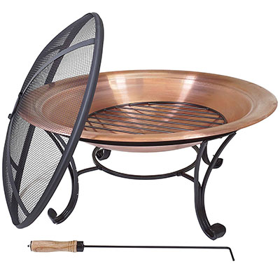 "Titan Outdoors 29"" Copper Outdoor Fire Pit"