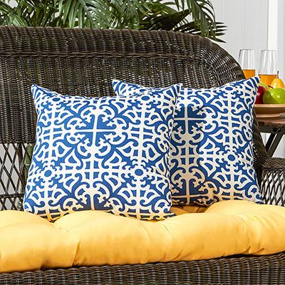 Greendale Home Fashions 17 in. Outdoor Accent Pillows