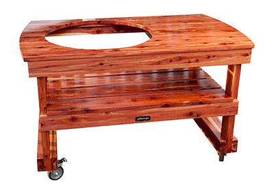 JJGeorge Table for (Extra Large) Big Green Egg, a Big Green Egg table with a ton of space