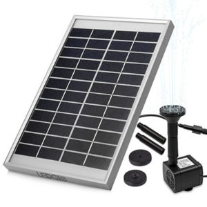 LEDGLE 5W Solar Fountain Pump