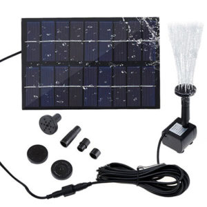 SIEGES Mini Solar Power Water Fountain Submersible Pump Kit