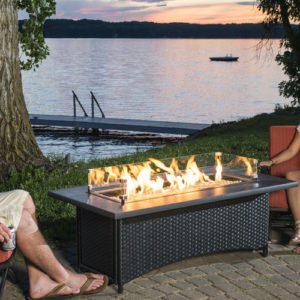 Montego+Crystal+Fire+Pit+Coffee+Table+with+Wicker+Base