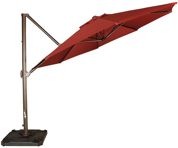 Abba Patio 11-Feet Offset Cantilever Umbrella Outdoor Patio Hanging Umbrella with Cross Base