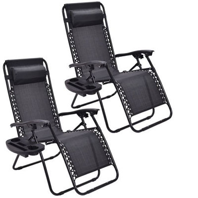 Goplus 2PC Zero Gravity Chairs