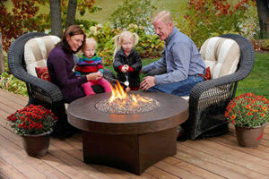 Fitted Gas Outdoor Fire Pit Table Oriflamme Savanna