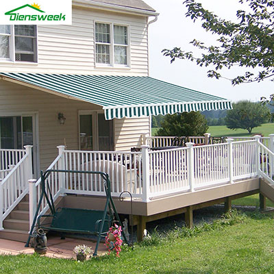 Diensweek Patio Awning Retractable Manual Commercial Grade