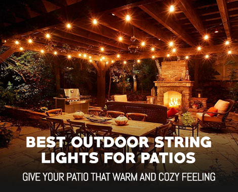 patio string lights best outdoor string lights for patios and gazebos 30618