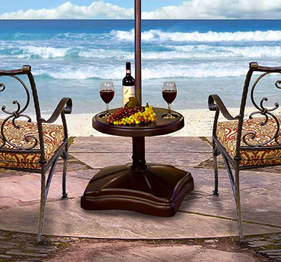 high end patio umbrella stand