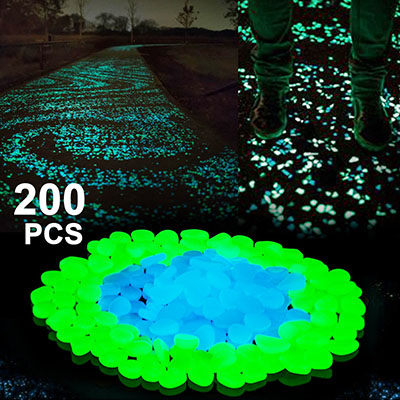Boomile Glow in the Dark Garden Pebbles, craft glow stones