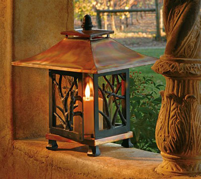 The H Potter Pantheon Decorative Candle Lantern is a high end candle lantern with a copper finish