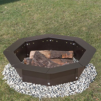 Pilot Rock Heavy Duty Bolt-Together Campfire Ring, heavy duty fire ring
