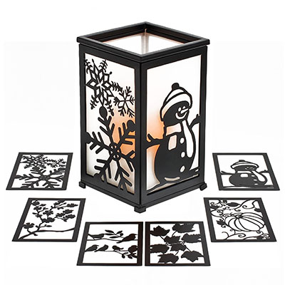The Home Impressions Decorative Flameless Hurricane Lantern is a beautiful decorative lantern that has wonderful festive options