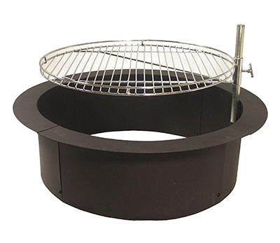 Catalina Creations Heavy Duty Fire Ring with Cooking Grate, steel fire ring