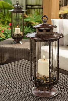 The 1 H Potter Decorative Hurricane Lantern is one of the best large outdoor lanterns around