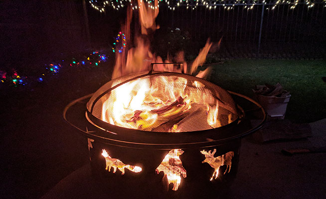 Landmann Big Sky Fire Pit a perfect bistro set accessory
