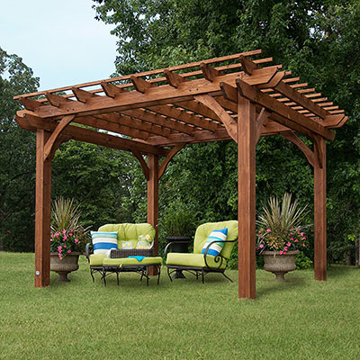 the Backyard Discovery Cedar Pergola is among the best backyard gazebos. Perfect for a backyard shady retreat when you need one.