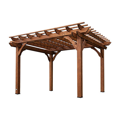 The Leisure Time Cedar Pergola makes for one of the best patio pergolas on the market with easy assembly and a lot of shade.