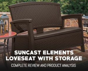 Suncast Elements Loveseat with Storage Review