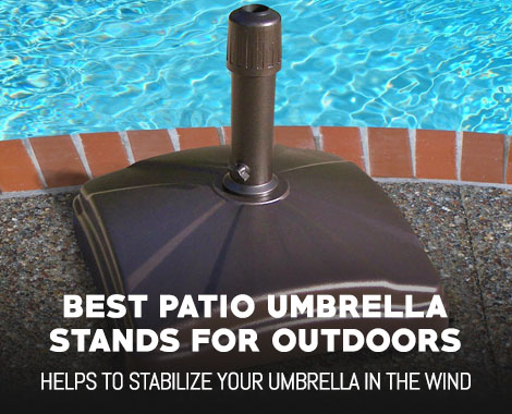 best patio umbrella stands for outdoor use - outdoormancave Best Umbrella Stand