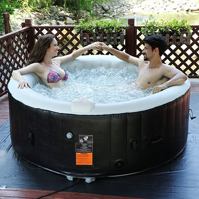 Goplus 4 Person Portable Inflatable Hot Tub