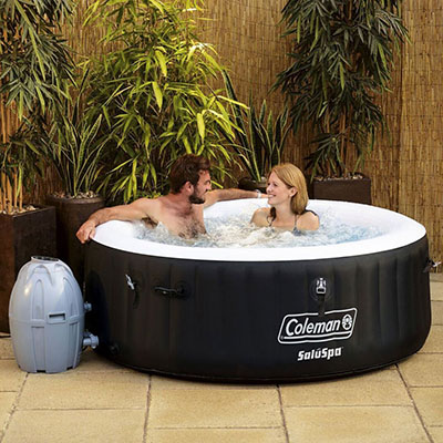 Coleman SaluSpa 4 Person Portable Inflatable Outdoor Spa Hot Tub